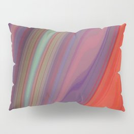 Splashes of Color (purple, corals, and gold) Pillow Sham