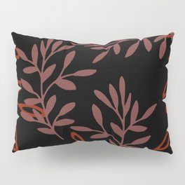 Leafy Red Pillow Sham