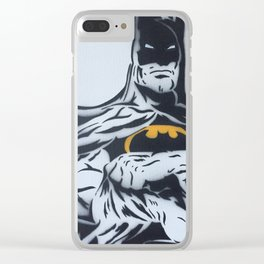 The Bats Body B&W Spray Painting Clear iPhone Case