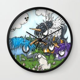 Egg Hunt Wall Clock