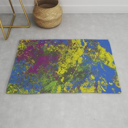 Clouded Judgement - Abstract Modern Painting Rug