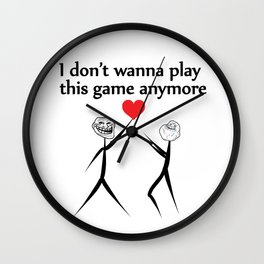 Playing  with love Wall Clock