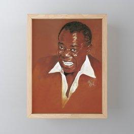 Louis Armstrong Framed Mini Art Print