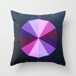 Purple dodecagon Throw Pillow