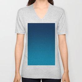 Ombre Blue Hawaii Ocean Gradient Duotone Unisex V-Neck
