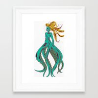 ursula Framed Art Prints featuring Ursula by Megan