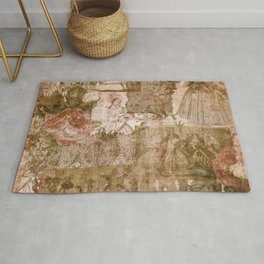 Vintage & Shabby Chic - Victorian ladies pattern Rug