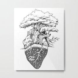 Nature Lover's Heart Metal Print