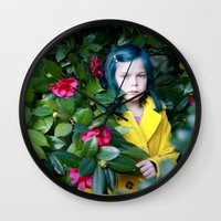 coraline Wall Clocks featuring Coraline by Malice of Alice