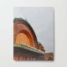 Helsinki Train Station Metal Print