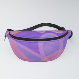 FIORI bright jumbo floral abstract in vivid pink purple blue Fanny Pack