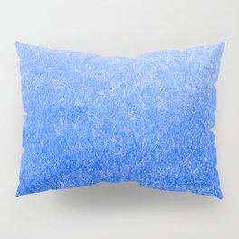 Light-to-Dark Blue Ombre Gradient Grass Pillow Sham