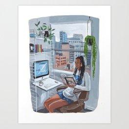Quarantine Bookclub: Micaela Art Print