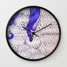 Tessellated Woman Wall Clock
