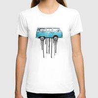 vw T-shirts featuring VW kombi 2 tone paint job by Vin Zzep