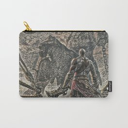 God of War Kratos Artistic Illustration Pebbles Style Carry-All Pouch