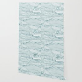 Marble Pale Teal Sea Green Marble Wallpaper