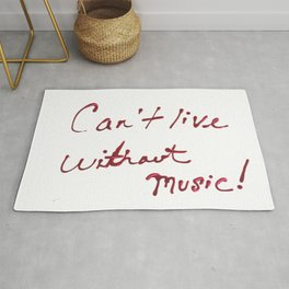 Can't Live Without Music! Rug