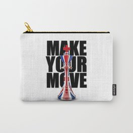 Make Your Move UK / 3D render of chess king with British flag Carry-All Pouch