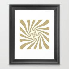 Swirl (Sand/White) Framed Art Print