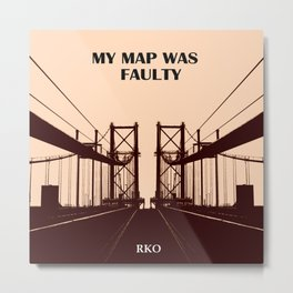 My map was Faulty Metal Print