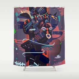 hideandseek Shower Curtain