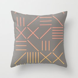 Geometric Shapes 12 Gradient Throw Pillow