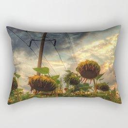 field of faded sunflowers  Rectangular Pillow