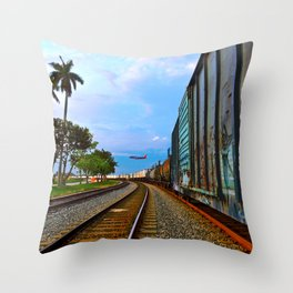 Planes, Trains, but no Automoblies Throw Pillow