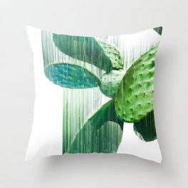 Faster than the speed of CACTUS Throw Pillow