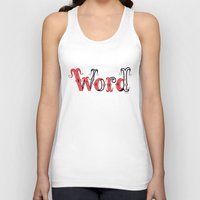word Tank Tops featuring Word by greckler
