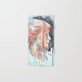 Redhead watercolor Hand & Bath Towel