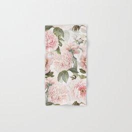 Vintage & Shabby Chic - Antique Pink Peony Flowers Garden Hand & Bath Towel