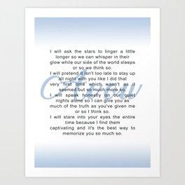 Avow, a Poem Art Print