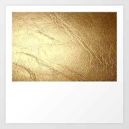 GolD & wHiTe Art Print