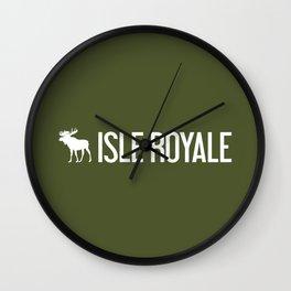 Isle Royale Moose Wall Clock