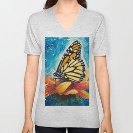 Butterfly - Discreet clarity - by LiliFlore Unisex V-Neck