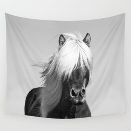 Portrait of a Horse in Scotish Highlands Wall Tapestry