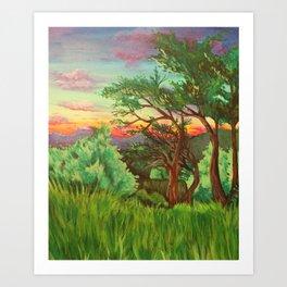 Blue Ridge Mountain Sunset Art Print