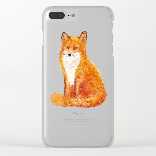 Seated Fox Clear iPhone Case