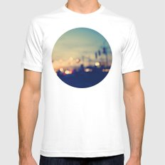 We're only young once MEDIUM Mens Fitted Tee White