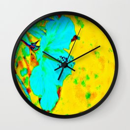 Tropical Vibrance in Hibiscus Wall Clock