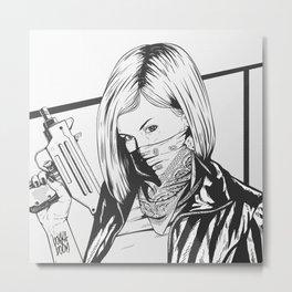 Bad Girl Gigi Metal Print