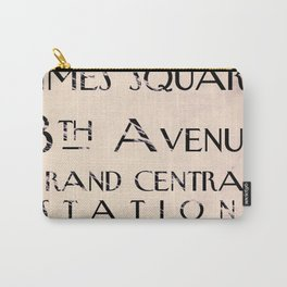 New York City Street Sign Carry-All Pouch