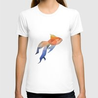 low poly T-shirts featuring Low Poly Fantail Goldfish  by The animals moved to - society6.com/dian