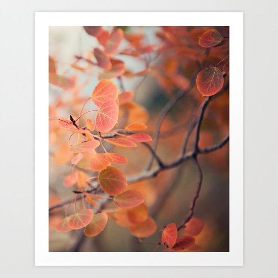 aspen amber Art Print