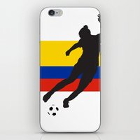 colombia iPhone & iPod Skins featuring Colombia - WWC by Alrkeaton