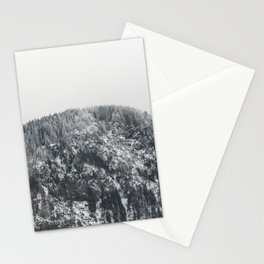 Snowy Mountain - Forest Adventure Begins Stationery Cards