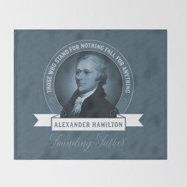 Alexander Hamilton Quote Throw Blanket