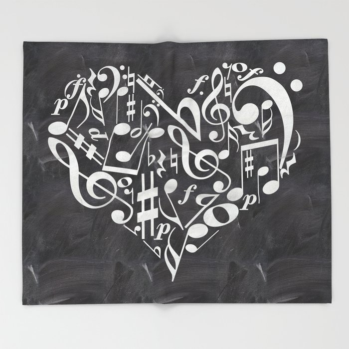 Music Throw Blanket